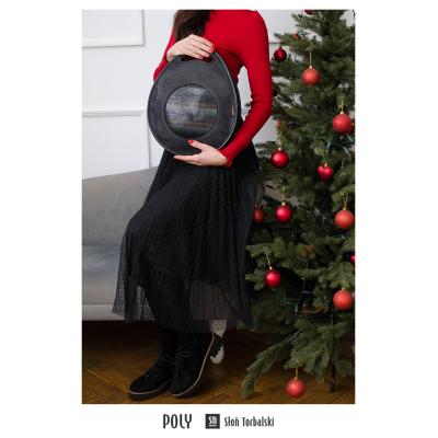 skórzana torebka-plecak
