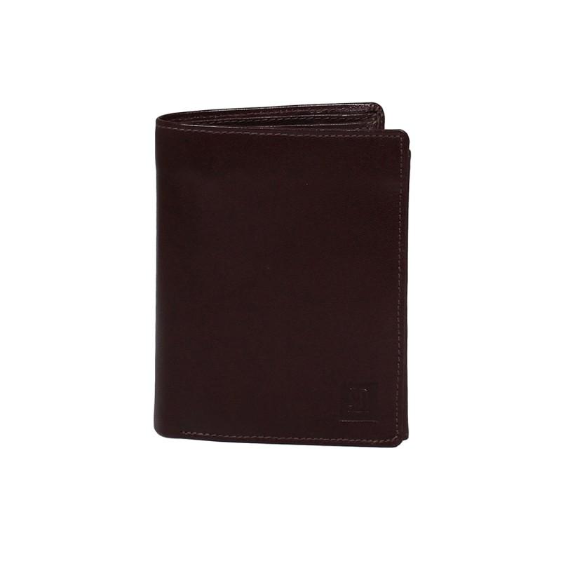 skórzany portfel męski brązowy