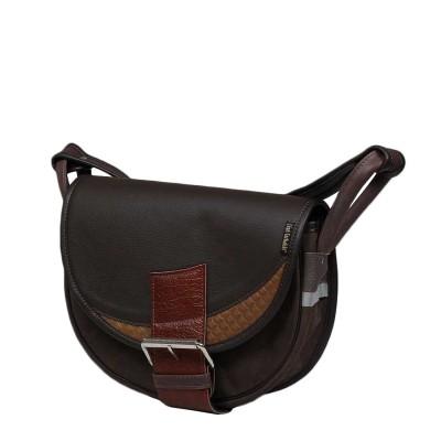 skórzana torebka na ramię brązowa