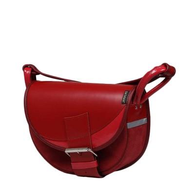 czerwona torebka damska ze skóry naturalnej