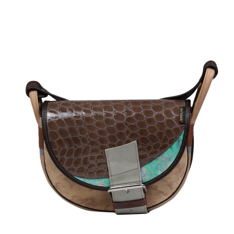 Skórzana torebka damska listonoszka