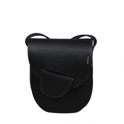 Skórzana torebka damska czarna