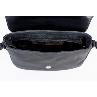 torebka czarna na ramię skórzana