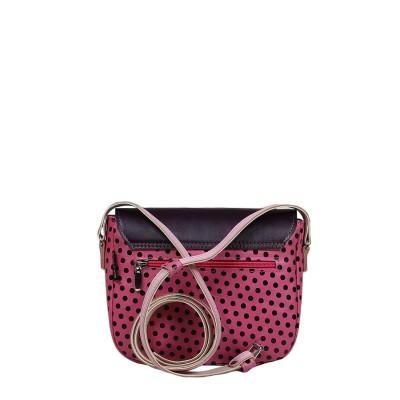 skórzana mała torebka różowa