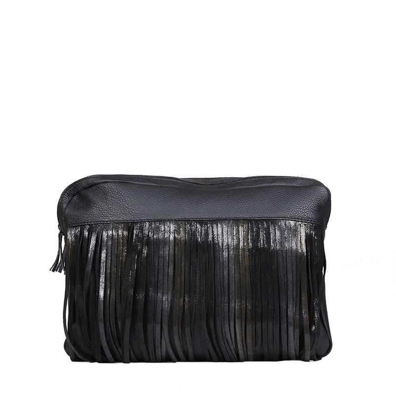 Leather handbag Reni