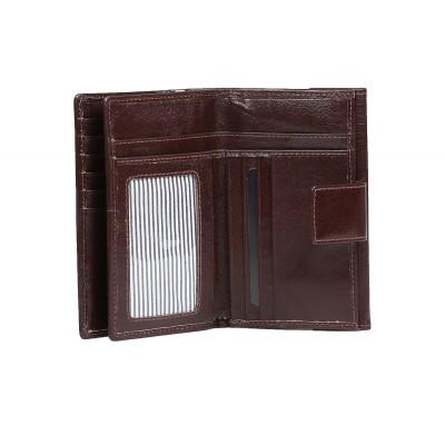 portfel skórzany z zapięciem