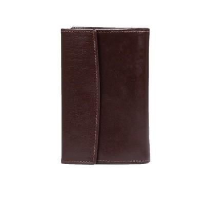 tył portfel skórzany damski brązowy