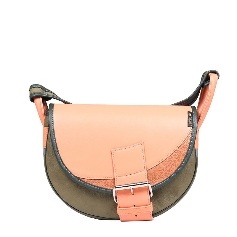 Leather shoulder bag...
