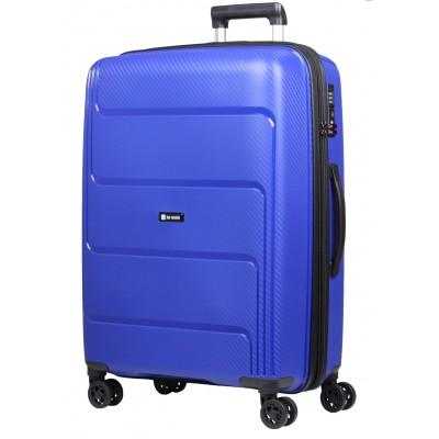 Granatowa walizka Słoń Torbalski Brave 77cm