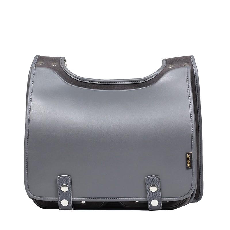Leather shoulder bag Bookcase
