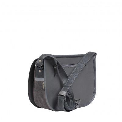 szara torebka z paskiem
