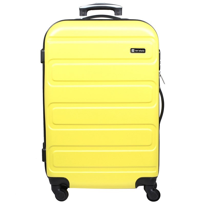 Duża walizka na kółkach z szyfrem