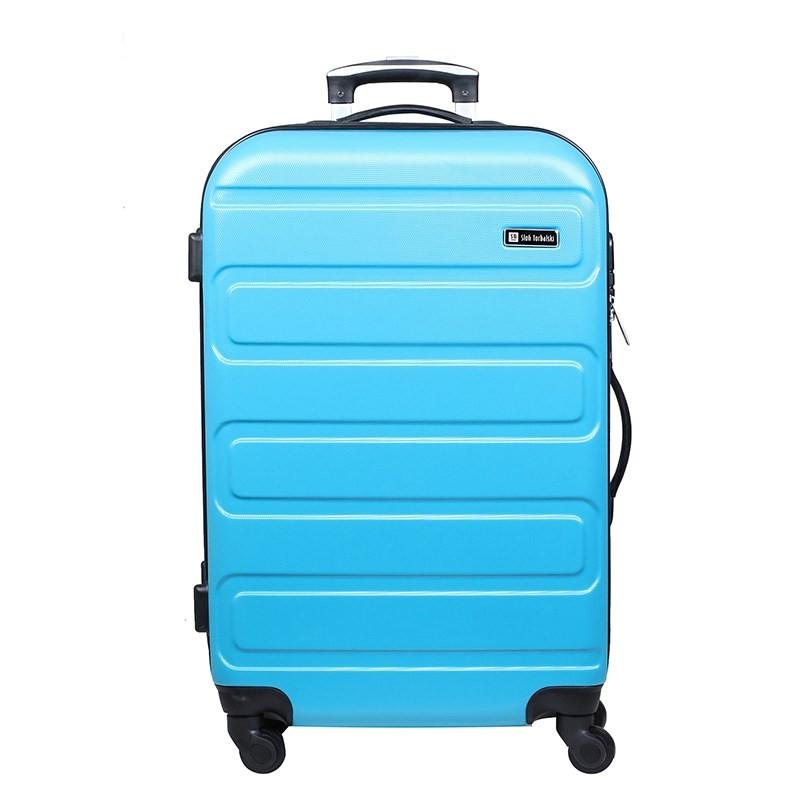 średnia walizka na czterech kółkach z szyfrem