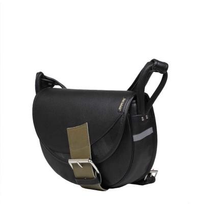 leather messenger black bag