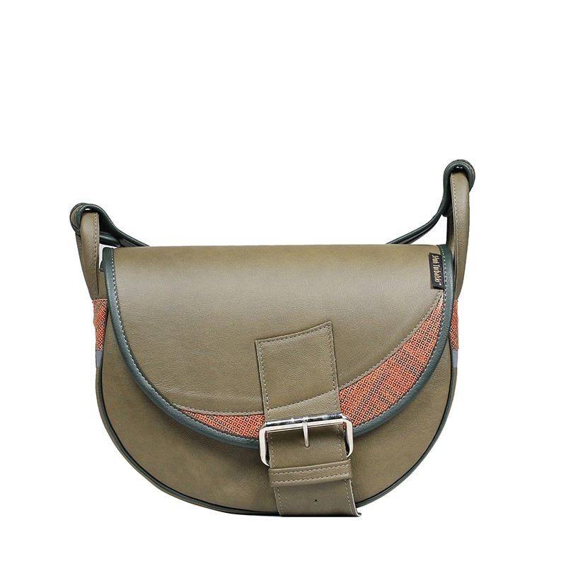 crescent khaki shoulder bag
