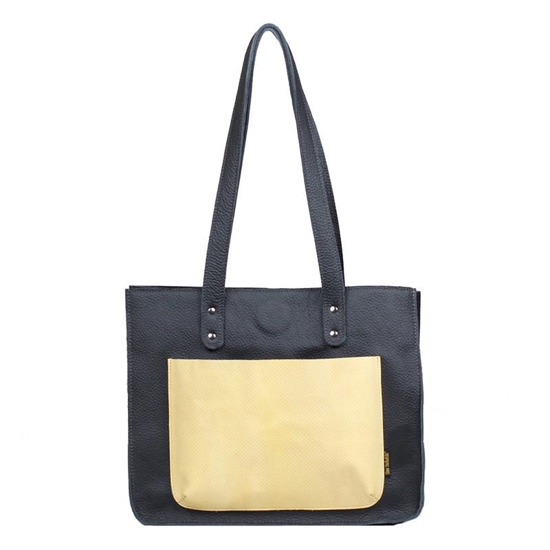 Leather handbag Greta,...