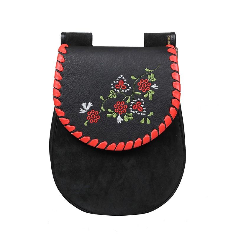 torba zamszowa z haftem