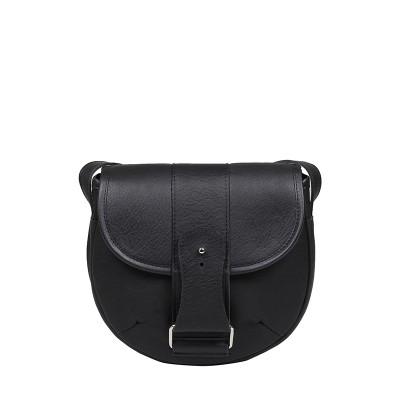 czarna torebka skórzana saddle bag