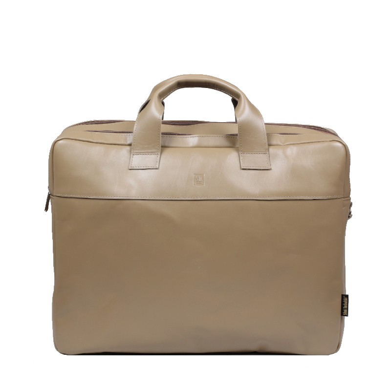 Leather bag beige