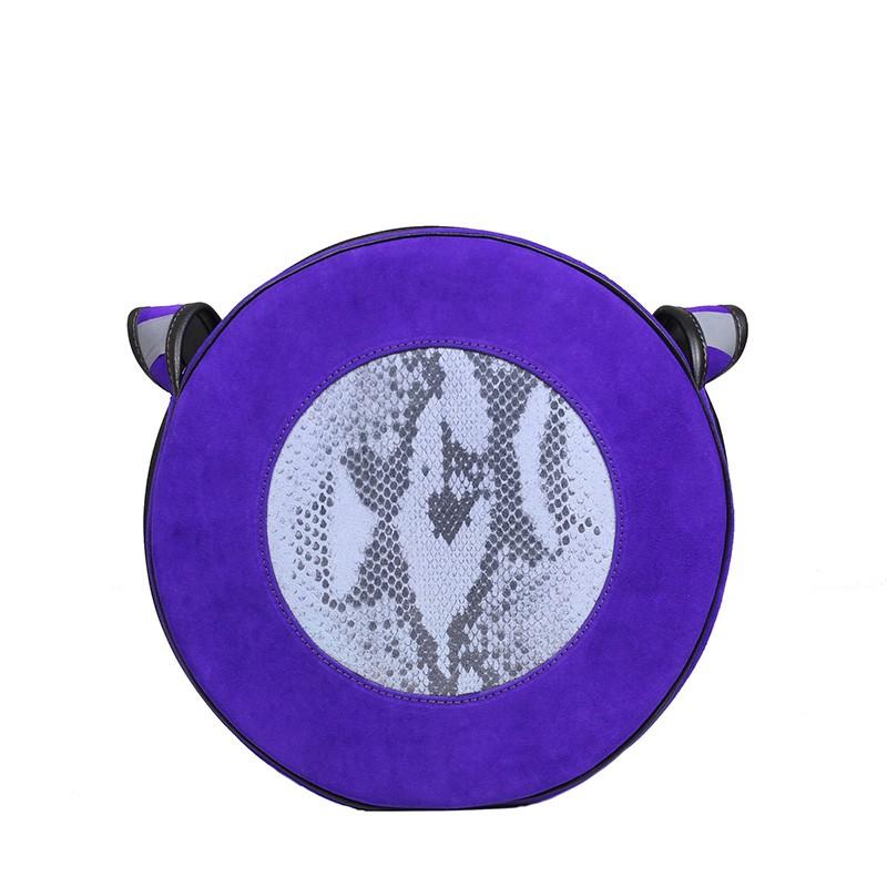 fioletowa torebka damska na ramię Holy