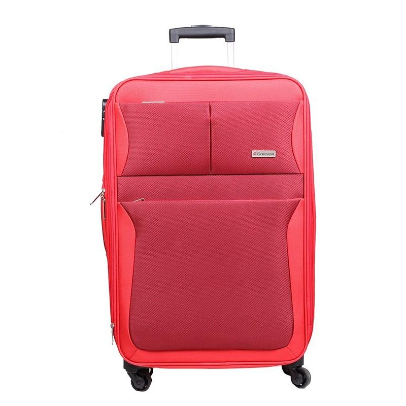 Czerwona walizka podróżna
