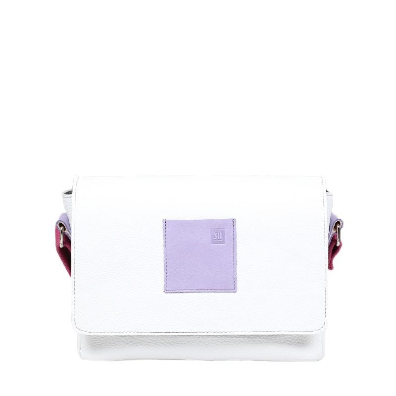 Biała torebka skórzana