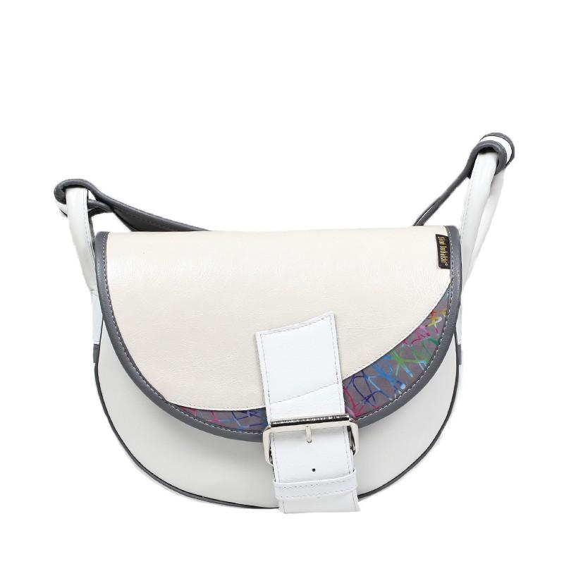 biała skórzana torebka