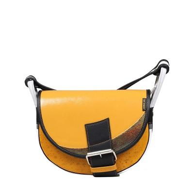 skórzana torebka pomaranczowa