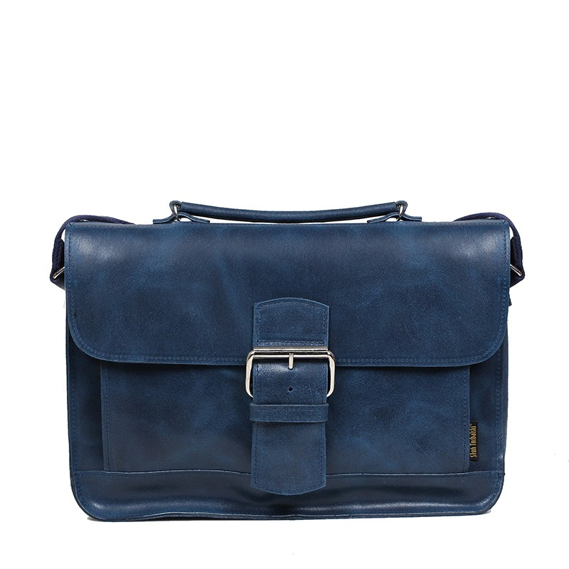 Dark blue leather bag vintage