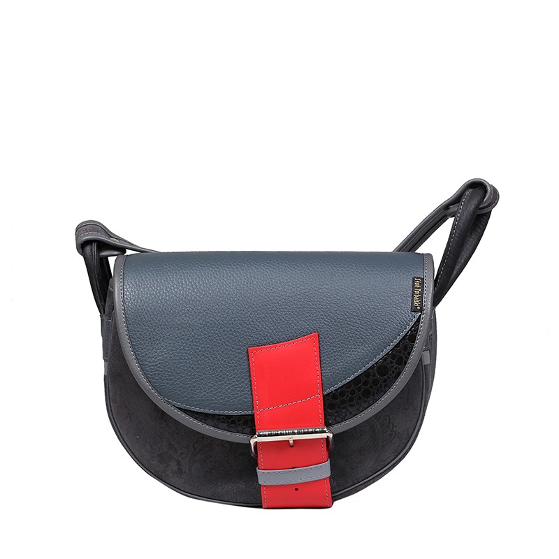 Skórzana torebka z klamrą