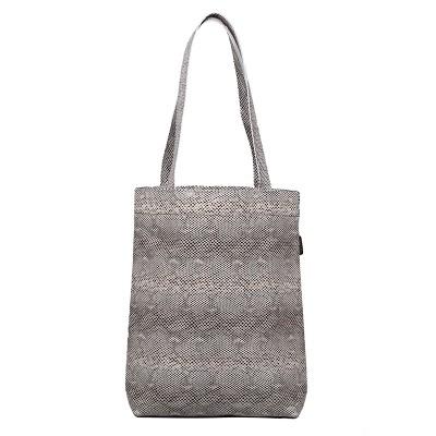 Leather shopper bag snake pattern